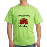 Strawberry Junkie Green T-Shirt