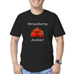 Strawberry Junkie Men's Fitted T-Shirt (dark)