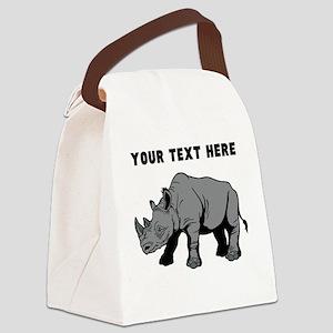 Custom Baby Rhino Canvas Lunch Bag