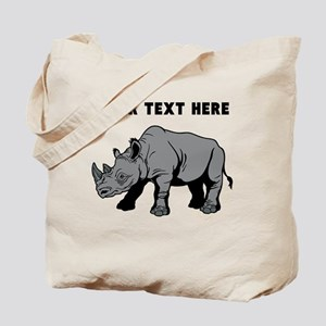 Custom Baby Rhino Tote Bag