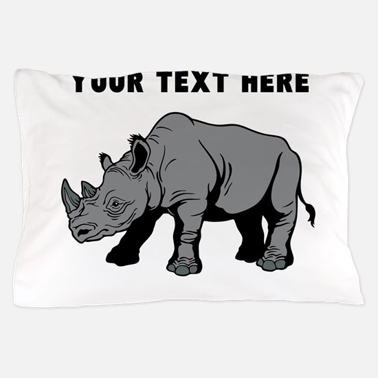 Custom Baby Rhino Pillow Case
