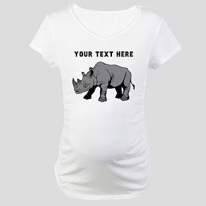 Custom Baby Rhino Maternity T-Shirt