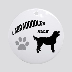 Labradoodles Rule Ornament (Round)