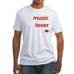 Music Lover   Fitted T-Shirt