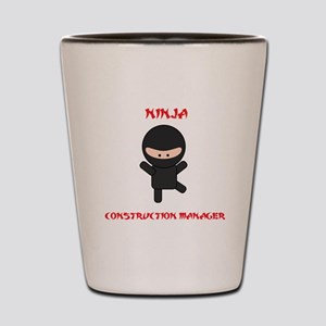Ninja Construction Manager Shot Glass