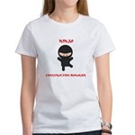 Ninja Construction Manager Women's T-Shirt