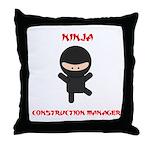 Ninja Construction Manager Throw Pillow