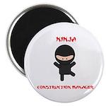 Ninja Construction Manager Magnet