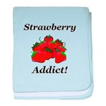 Strawberry Addict baby blanket