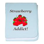 Strawberry Addict baby blanket