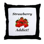 Strawberry Addict Throw Pillow