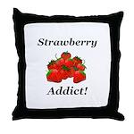 Strawberry Addict Throw Pillow