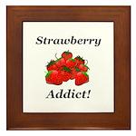Strawberry Addict Framed Tile