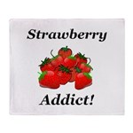 Strawberry Addict Throw Blanket