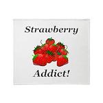 Strawberry Addict Throw Blanket
