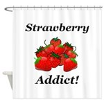 Strawberry Addict Shower Curtain