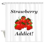 Strawberry Addict Shower Curtain