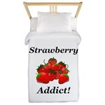 Strawberry Addict Twin Duvet
