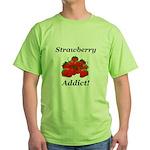 Strawberry Addict Green T-Shirt