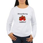 Strawberry Addict Women's Long Sleeve T-Shirt