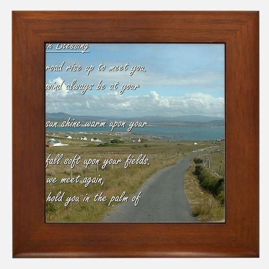 Old Irish Blessing #1 Framed Tile