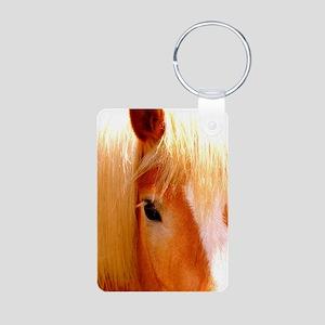 Haflinger Horse Aluminum Photo Keychain