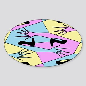 """""""New Shoes"""" Sticker (Oval)"""