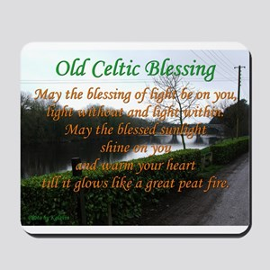 Old Celtic Blessing Mousepad