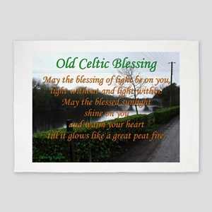 Old Celtic Blessing 5'x7'Area Rug