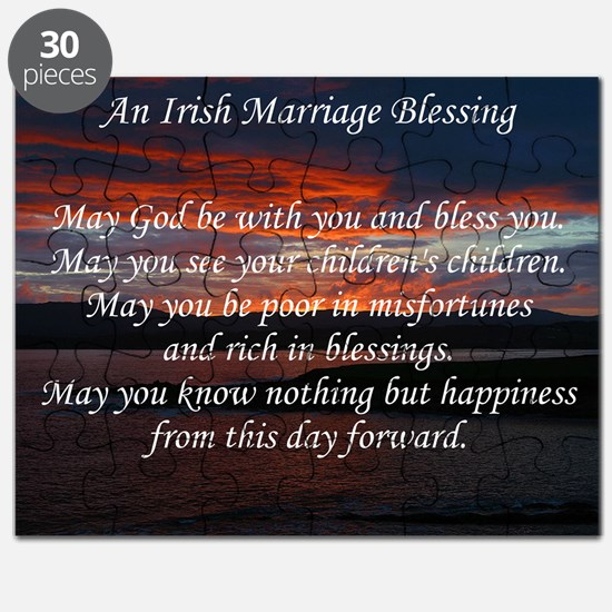 Irish Marriage Blessing Puzzle