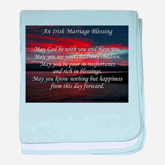 Irish Marriage Blessing baby blanket