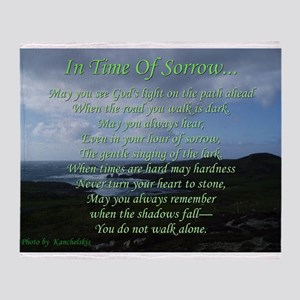In Time of Sorrow Throw Blanket