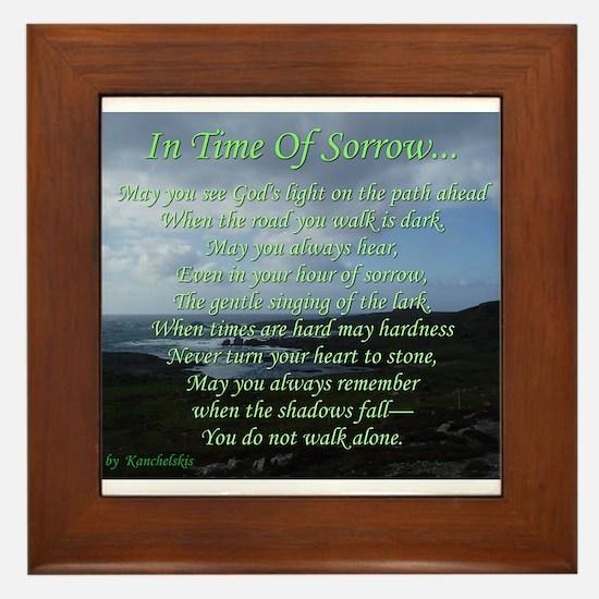 In Time of Sorrow Framed Tile