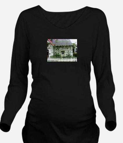 Bless This House Long Sleeve Maternity T-Shirt