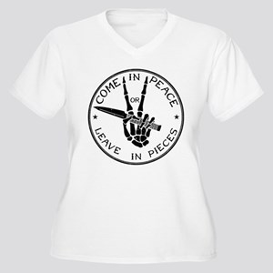 Come in Peace Plus Size T-Shirt