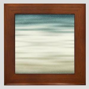 Sky Waves Framed Tile