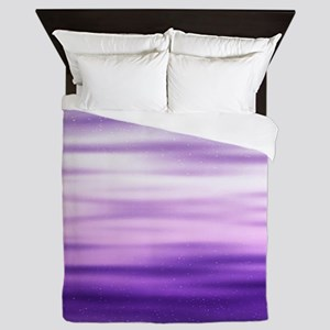 Purple Waves Queen Duvet