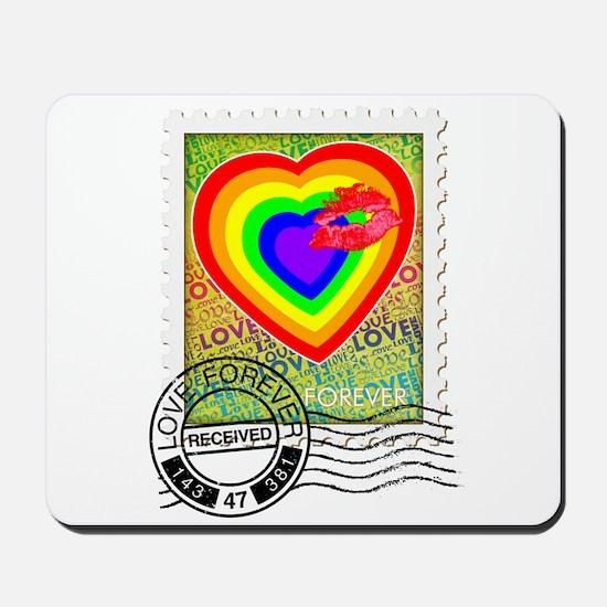 Kiss of Rainbow Love Stamp Mousepad