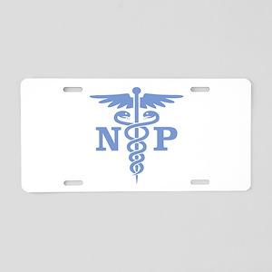 Caduceus NP (blue) Aluminum License Plate
