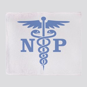 Caduceus NP (blue) Throw Blanket