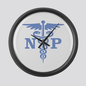 Caduceus NP (blue) Large Wall Clock