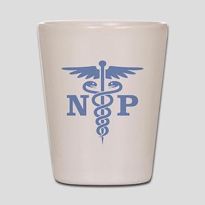 Caduceus NP (blue) Shot Glass