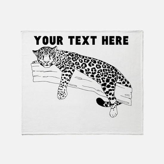 Custom Leopard In Tree Throw Blanket