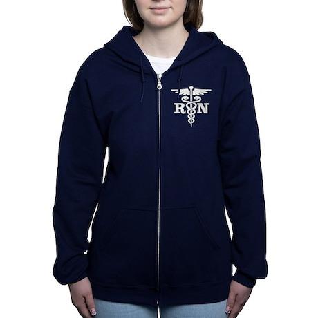 Caduceus RN (blue) Women's Zip Hoodie