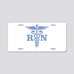 Caduceus RN (blue) Aluminum License Plate