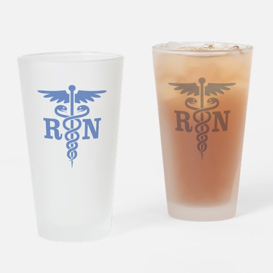 Caduceus RN (blue) Drinking Glass