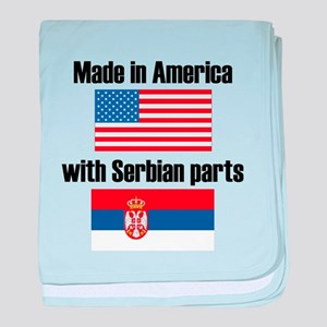 Made In America With Serbian Parts baby blanket