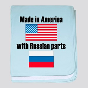 Made In America With Russian Parts baby blanket