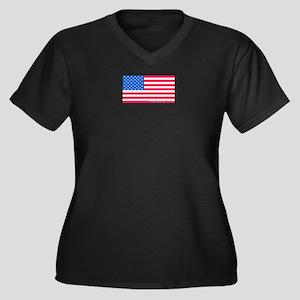 United States of America Women's Plus Size V-Neck