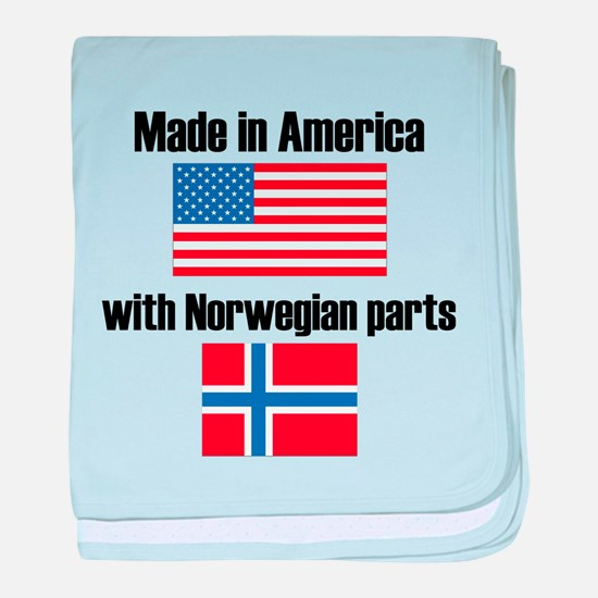 Made In America With Norwegian Parts baby blanket